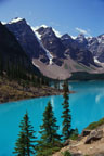 Moraine Lake and Canadian Rockies
