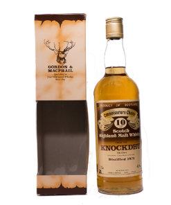 Knockdhu 1974/10Y brown Label Gordon & Macphail