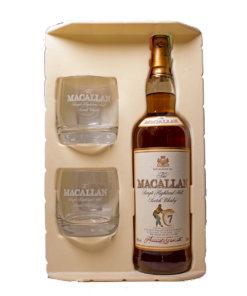 Macallan 7Y 90s bottling Gift Set Italy Original