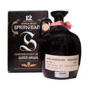 Springbank 12Y black Jug Pure Malt Original