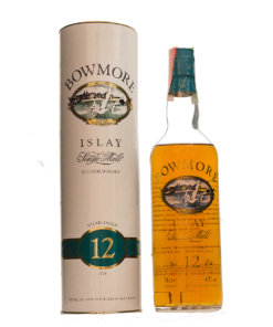 Bowmore 12Y old Label green Cap Siebdruck Original