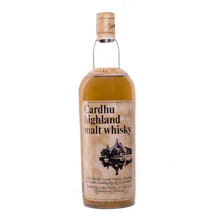 Cardhu 12Y very old tall bottle Original