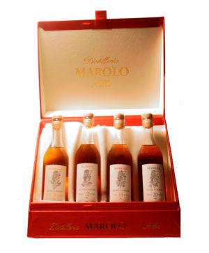 Grappa di Barolo Degustation Set 4x 20cl 9/12/15/20 anni Marolo