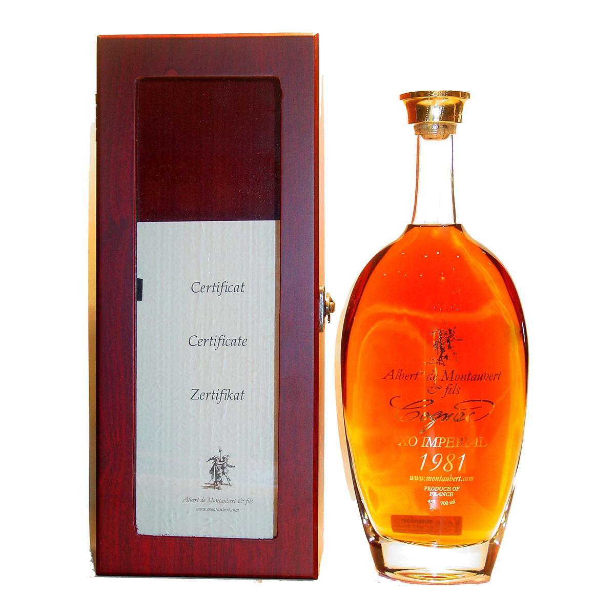 Albert de Montaubert XO impérial 1981 Cognac