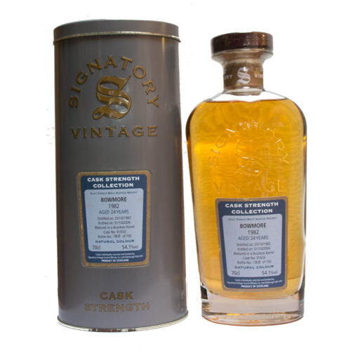 Bowmore 1982 24Y Cask 91633 193 Bottles Signatory
