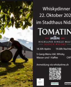 Whiskydinner 22.10.2021 Stadthaus Nidau mit Tomatin